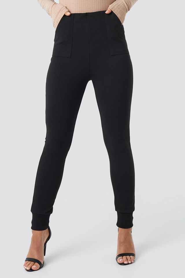 Fitted Pants Black