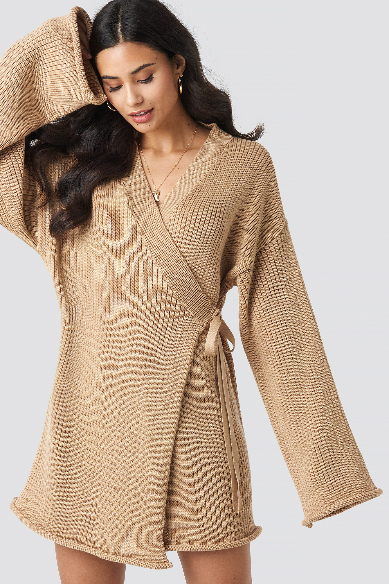 Overlap Knitted Dress NA-KD.COM