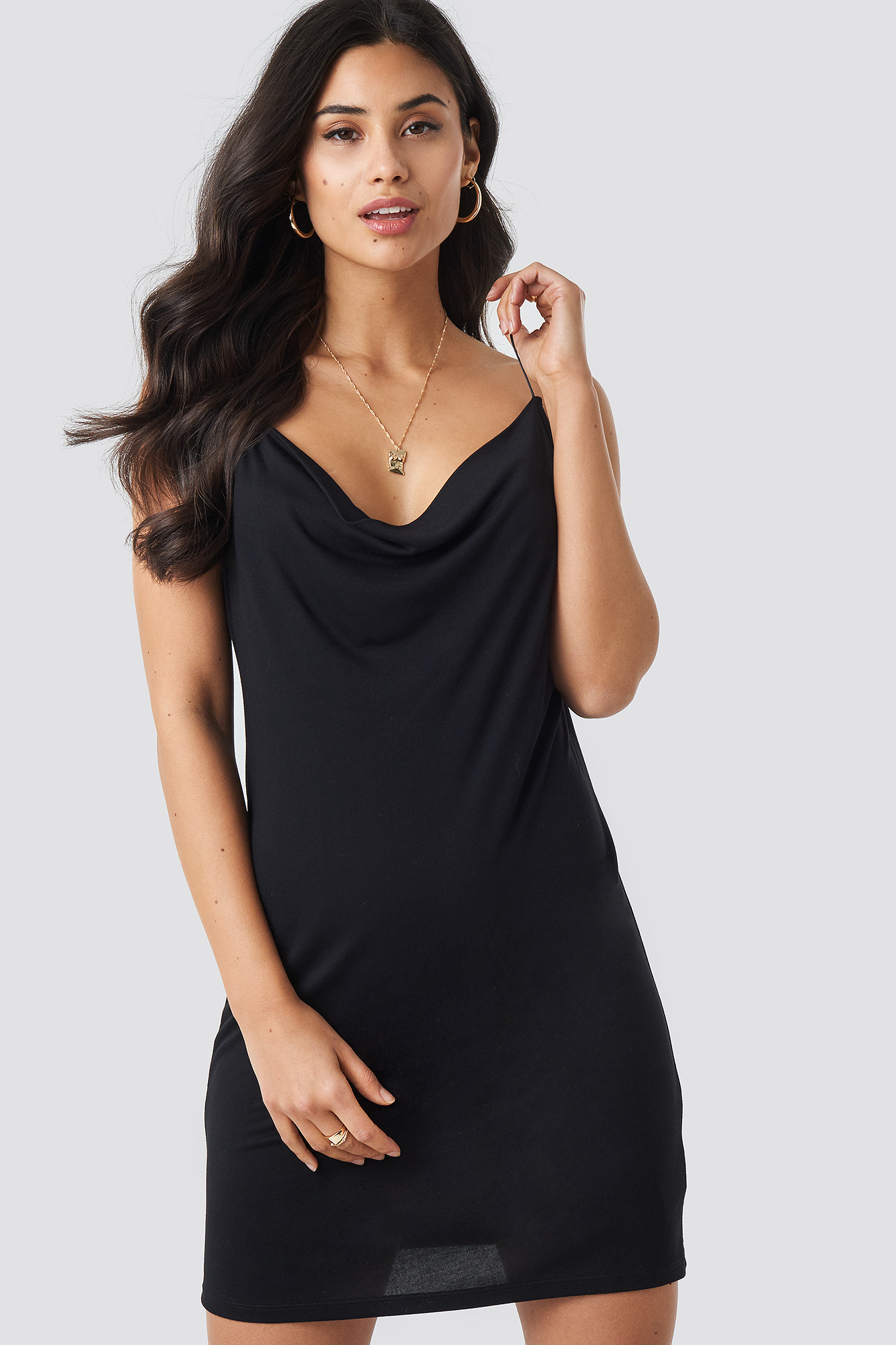 Slip Mini Dress Black Iva Nikolina x NA-KD
