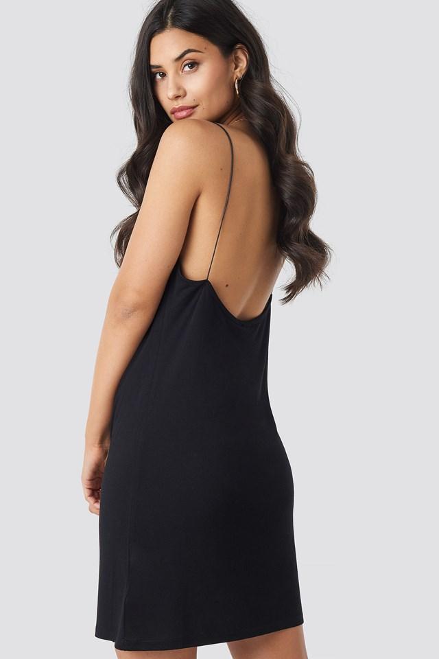 Slip Mini Dress Black