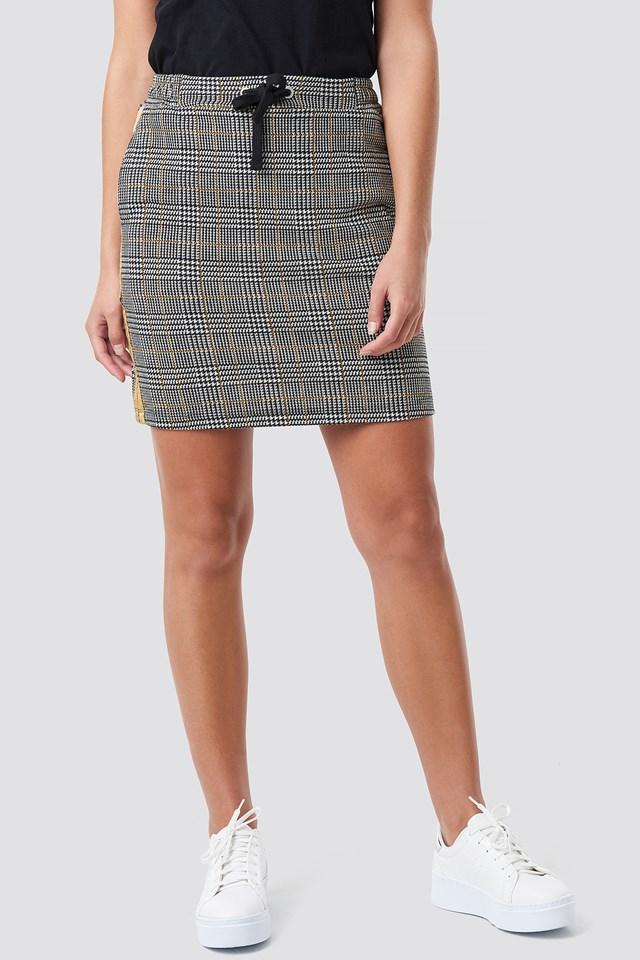 Jacquard Check Skirt Black/White/Yellow