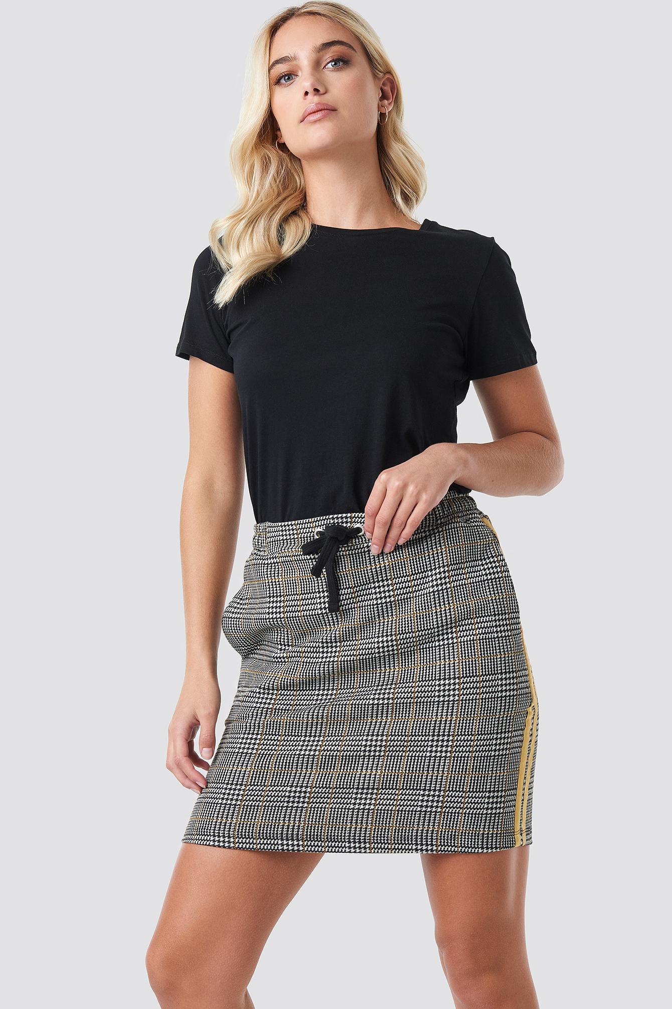 Jacquard Check Skirt NA-KD.COM