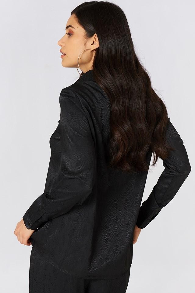 Jacquard Dotted Shirt Black