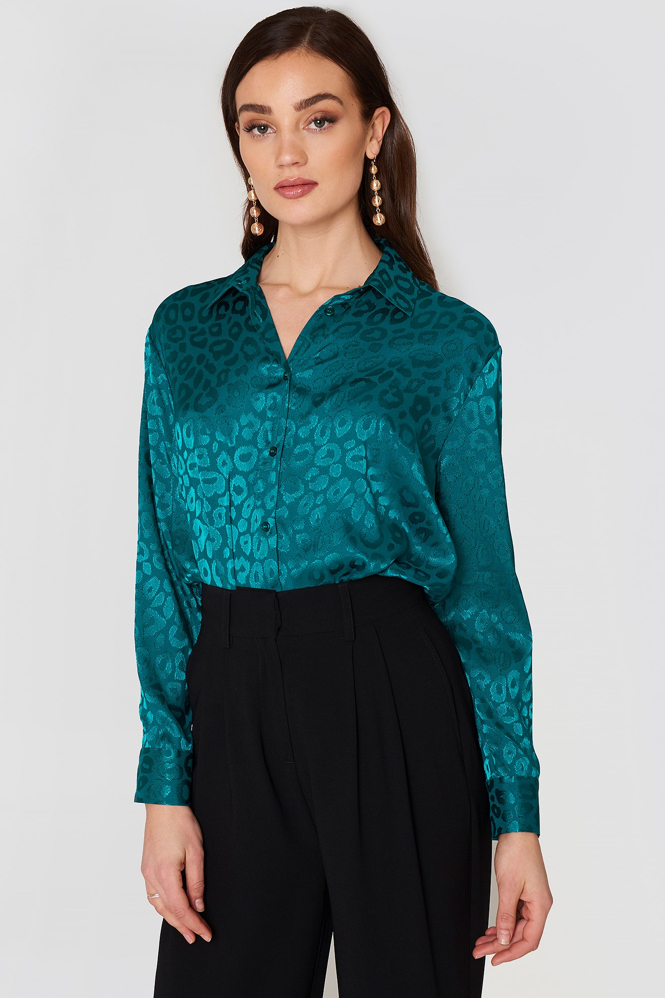 Jacquard Long Sleeve Shirt NA-KD.COM