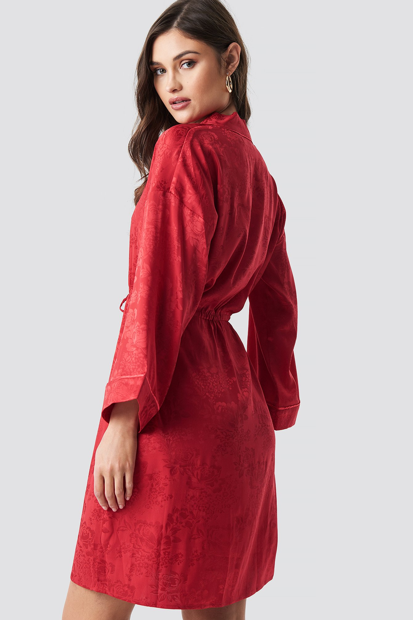 Jacquard Satin Kimono NA-KD.COM