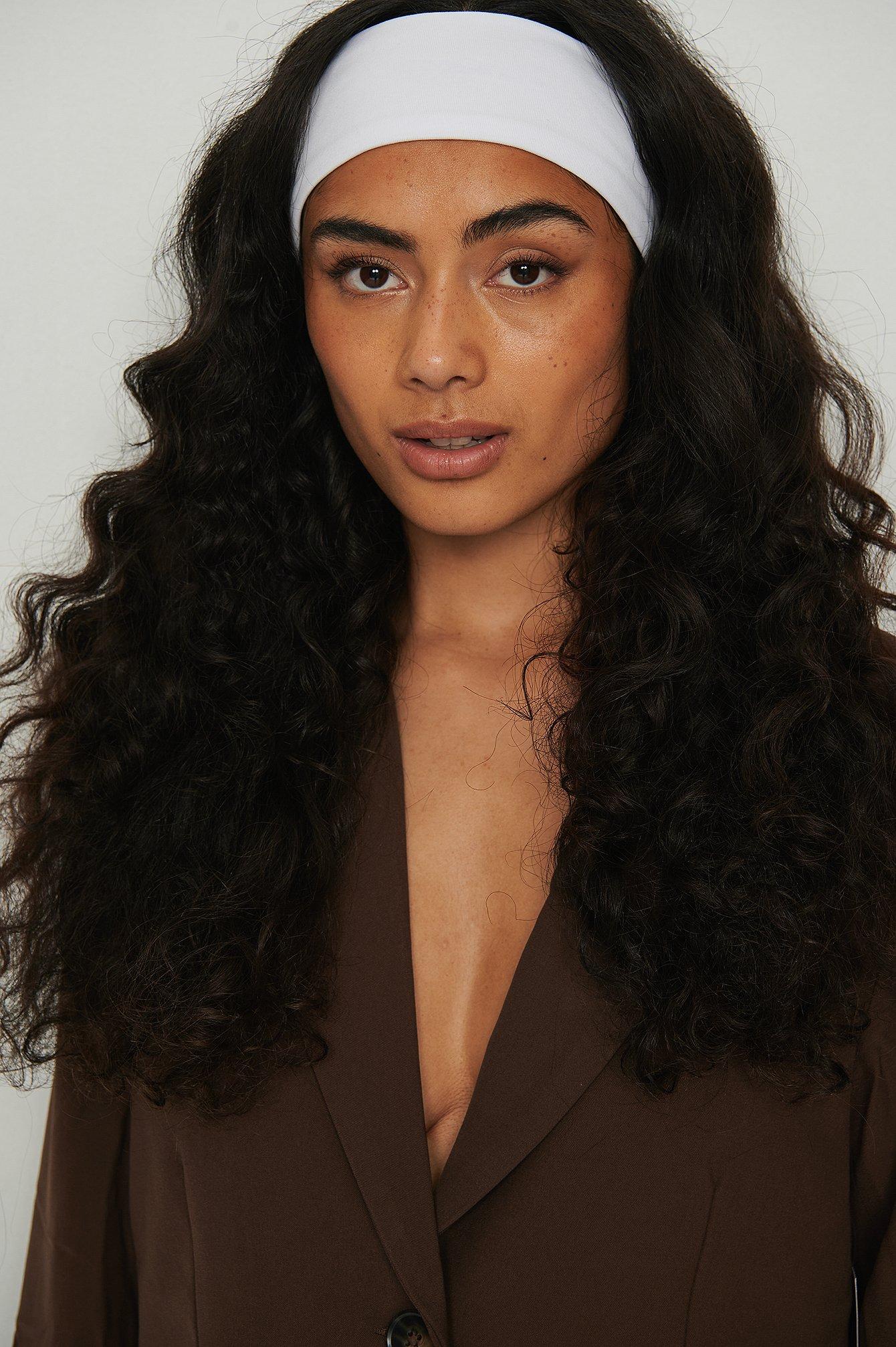 na-kd accessories -  Bio-Haarband Aus Jersey - White