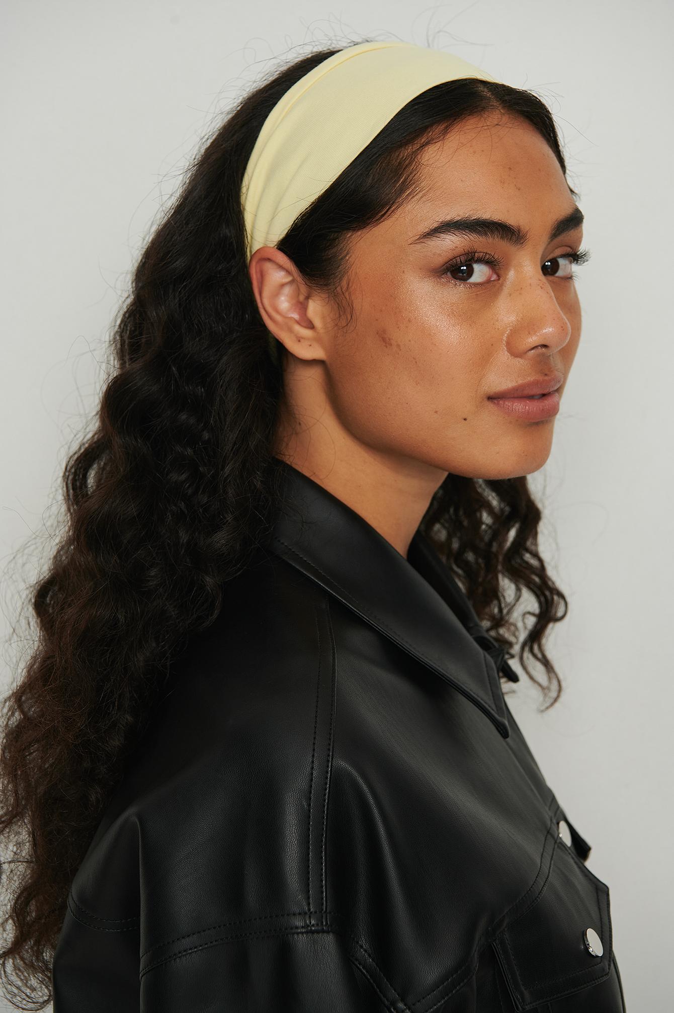 na-kd accessories -  Bio-Haarband Aus Jersey - Yellow