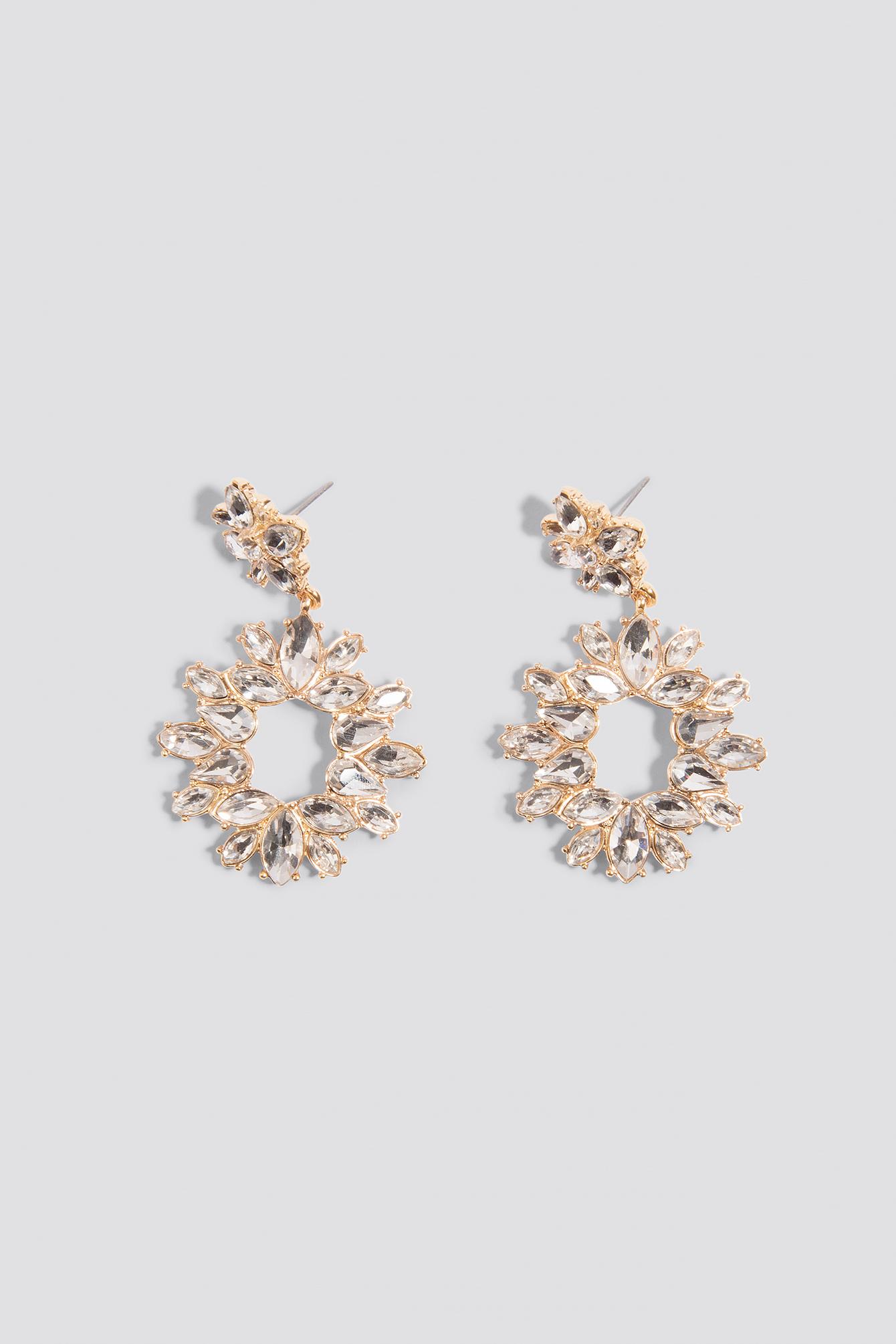 Jewel Flower Drop Earrings NA-KD.COM