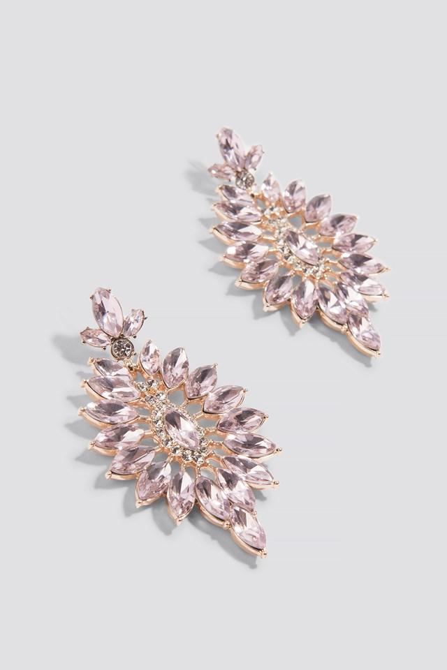 Jewel Flower Stud Earrings NA-KD.COM
