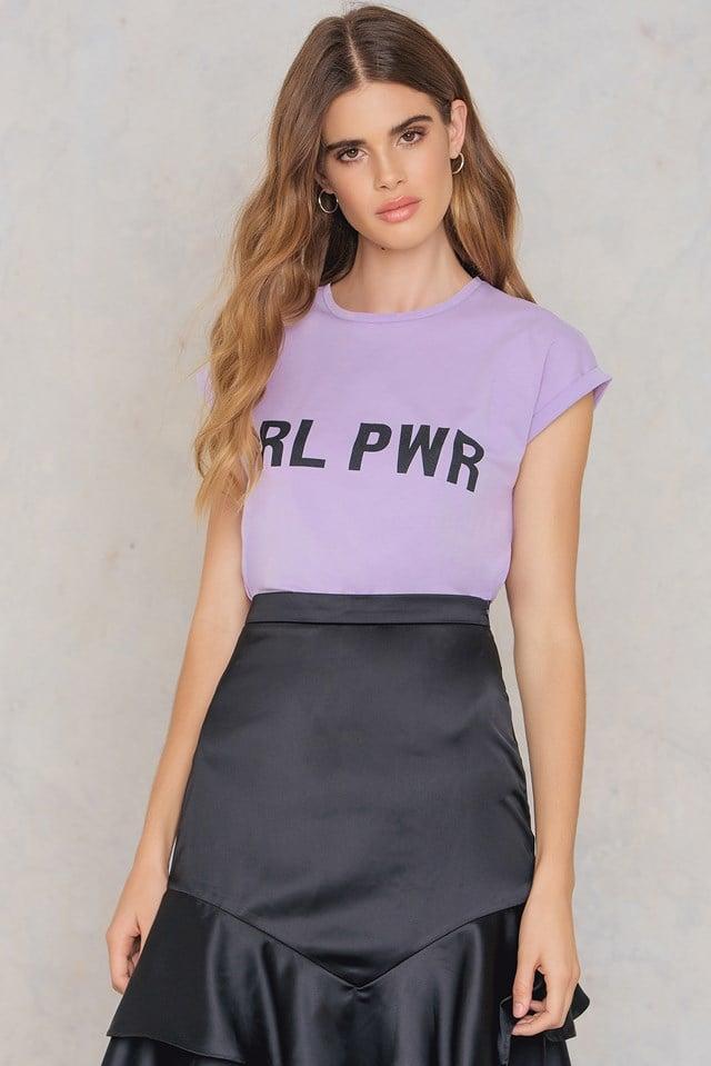 GRL PWR T-shirt Purple Black