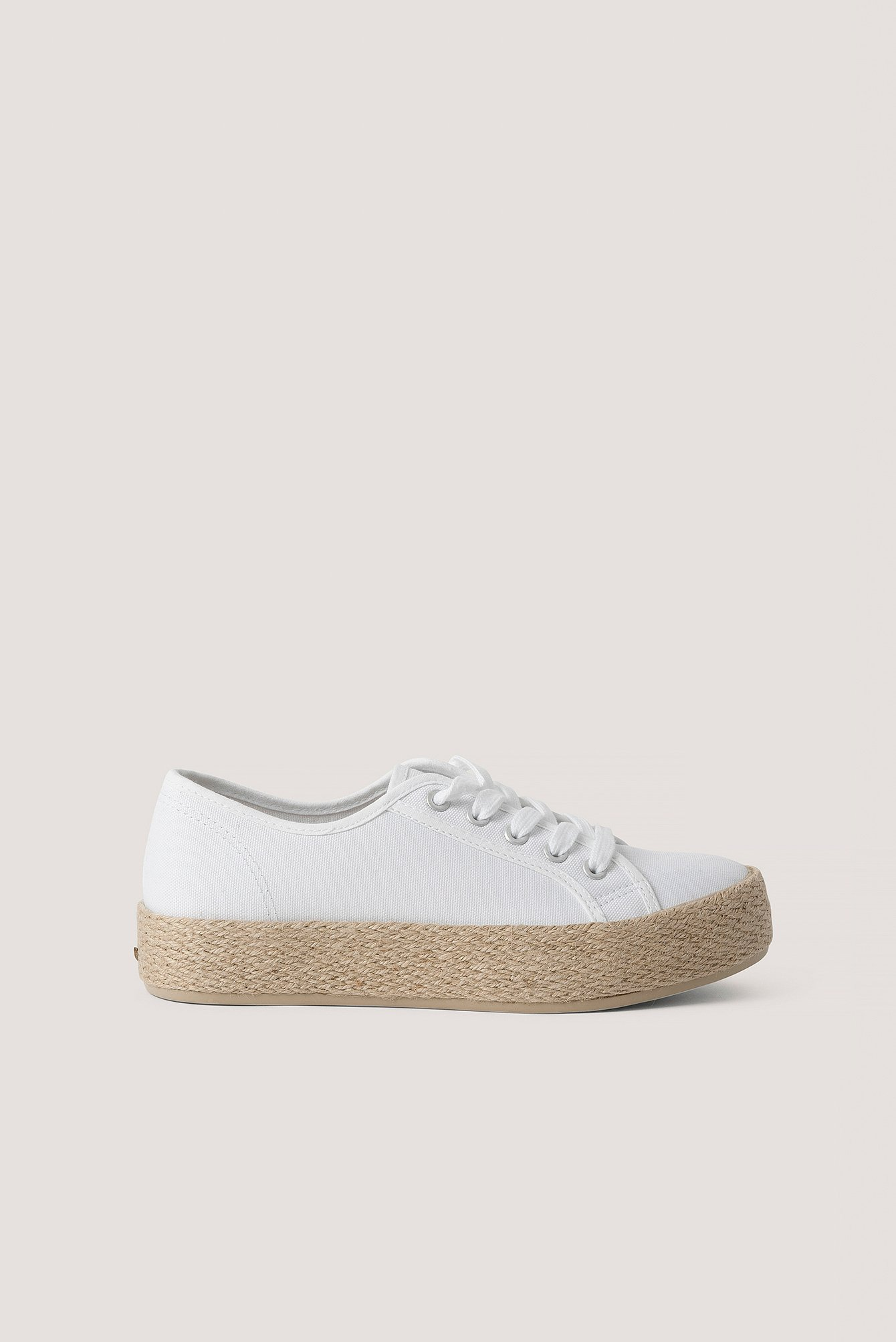 White Jute Sole Trainers