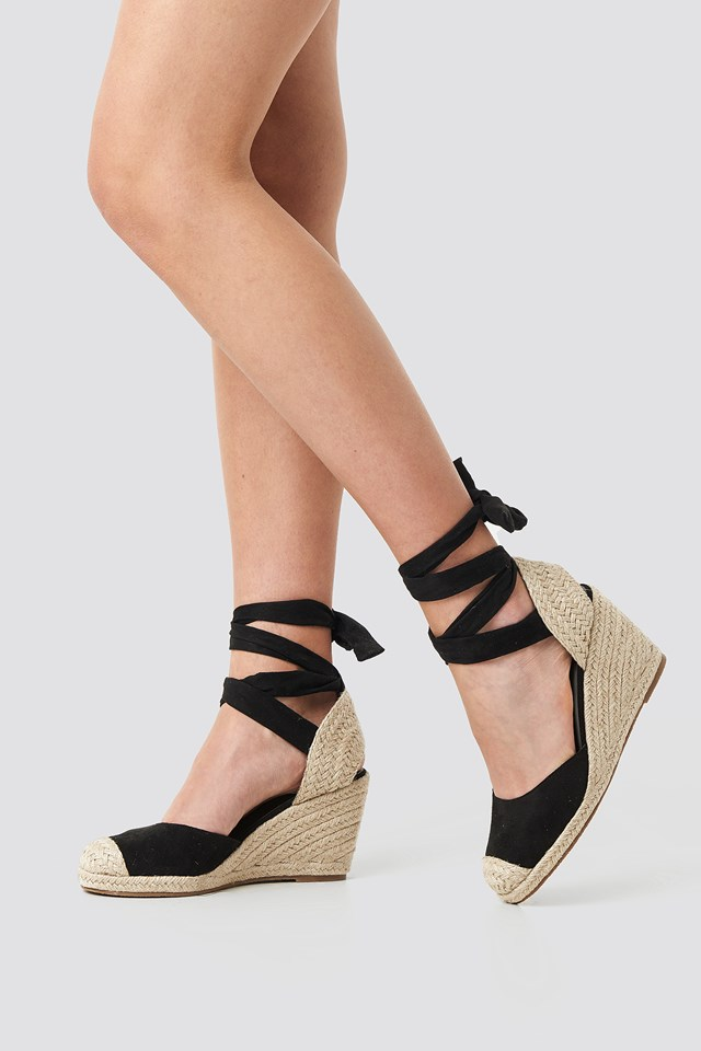 Jute Wedge Heel Sandals NA-KD Shoes