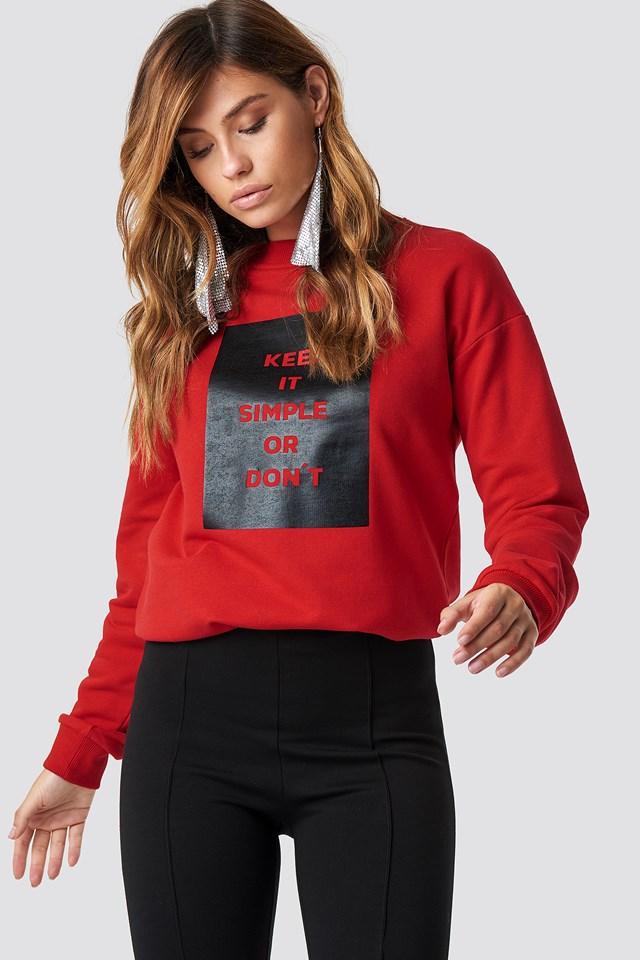 Keep It Simple Sweatshirt NA-KD