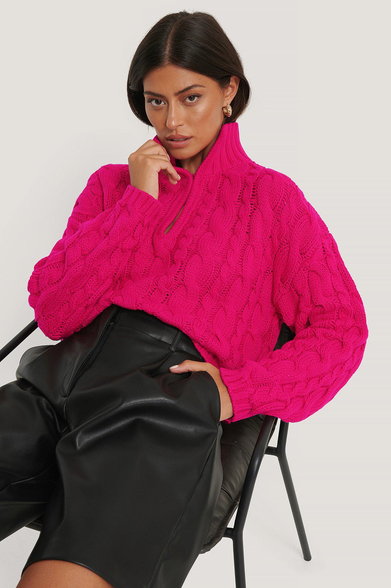 na-kd trend -  Kurzer Strickpullover - Pink