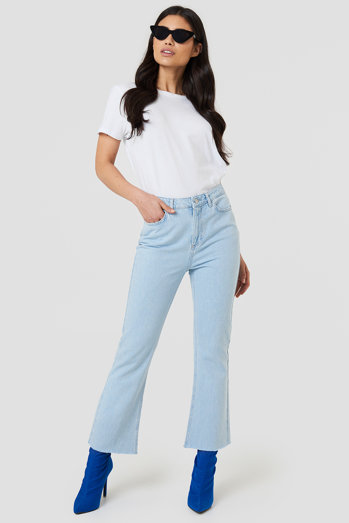 na-kd -  Kick Flare Jeans - Blue