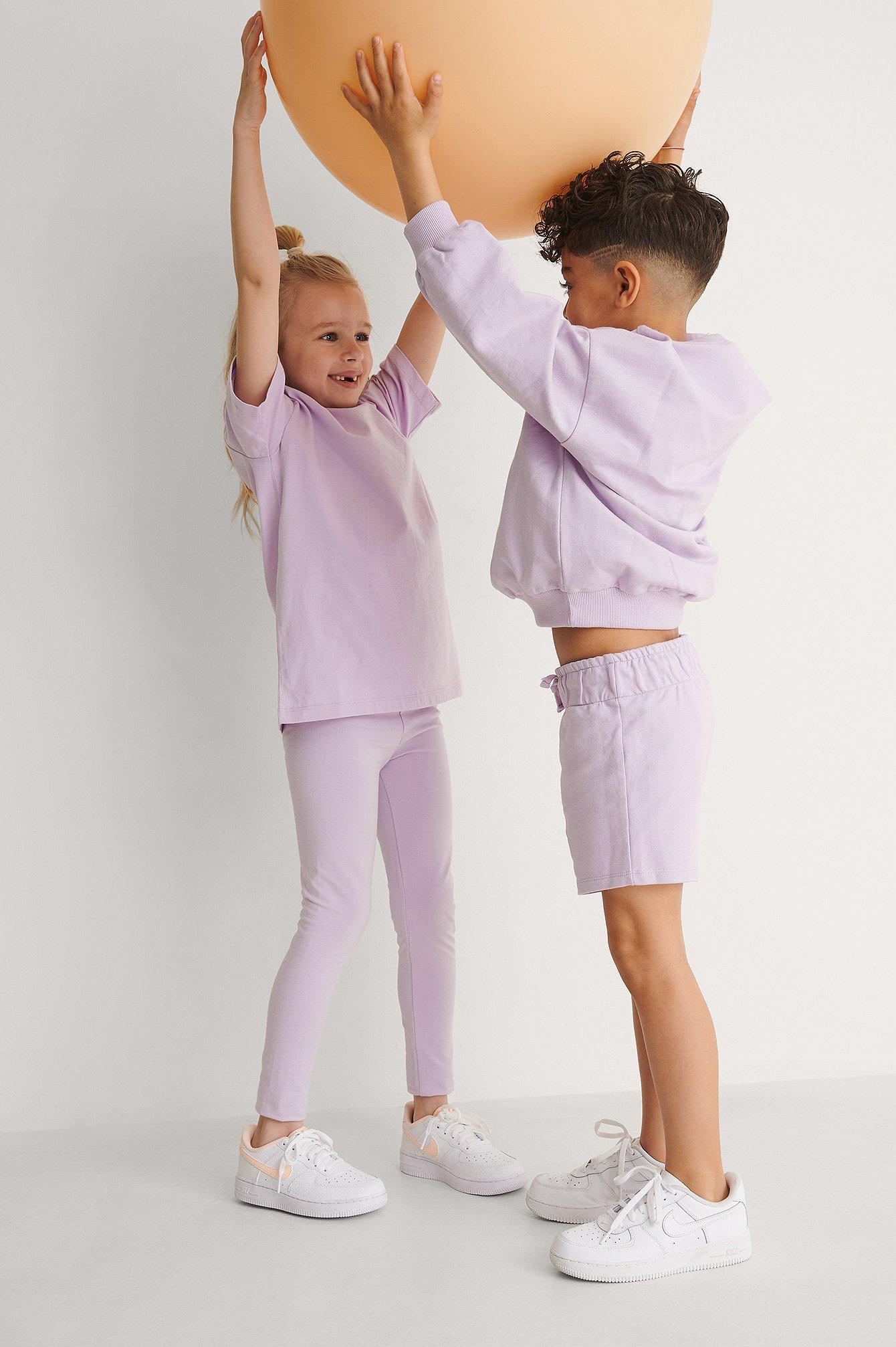 kids by na-kd -  Bio-Basic-Leggings - Purple