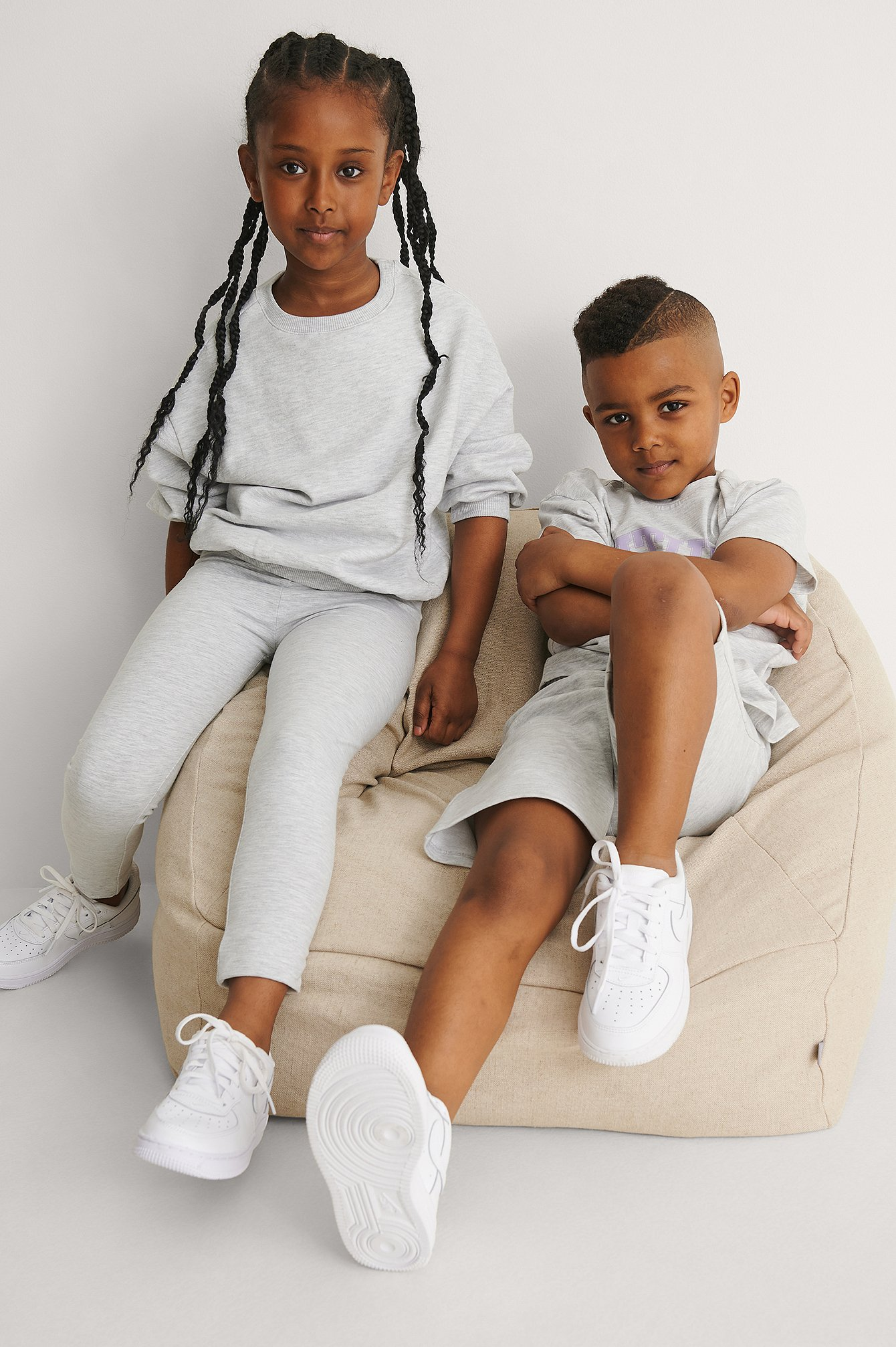 kids by na-kd -  Bio-Basic-Leggings - Grey