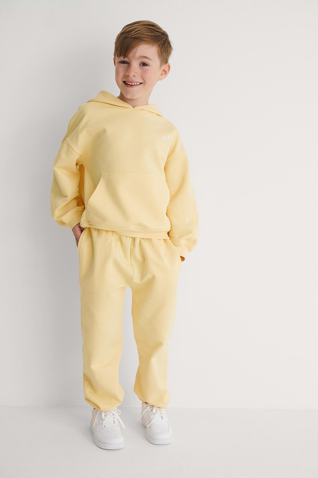 KIDS by NA-KD Perustyyliset Orgaaniset Farkut - Yellow