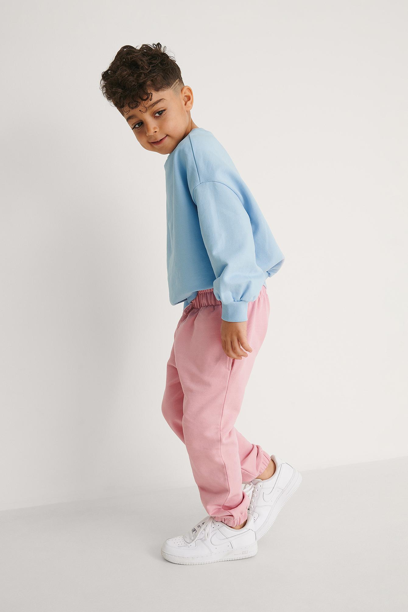 KIDS by NA-KD Perustyyliset Orgaaniset Farkut - Pink