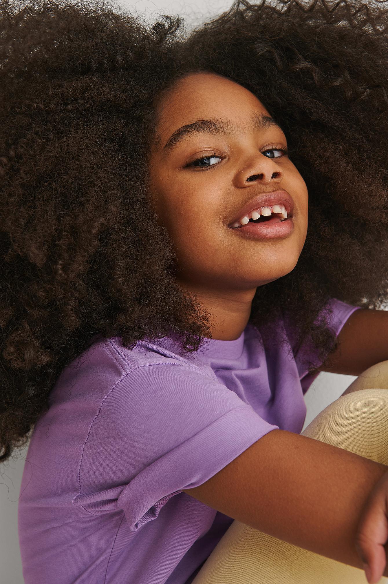 kids by na-kd -  Bio-Basic-T-Shirt - Purple