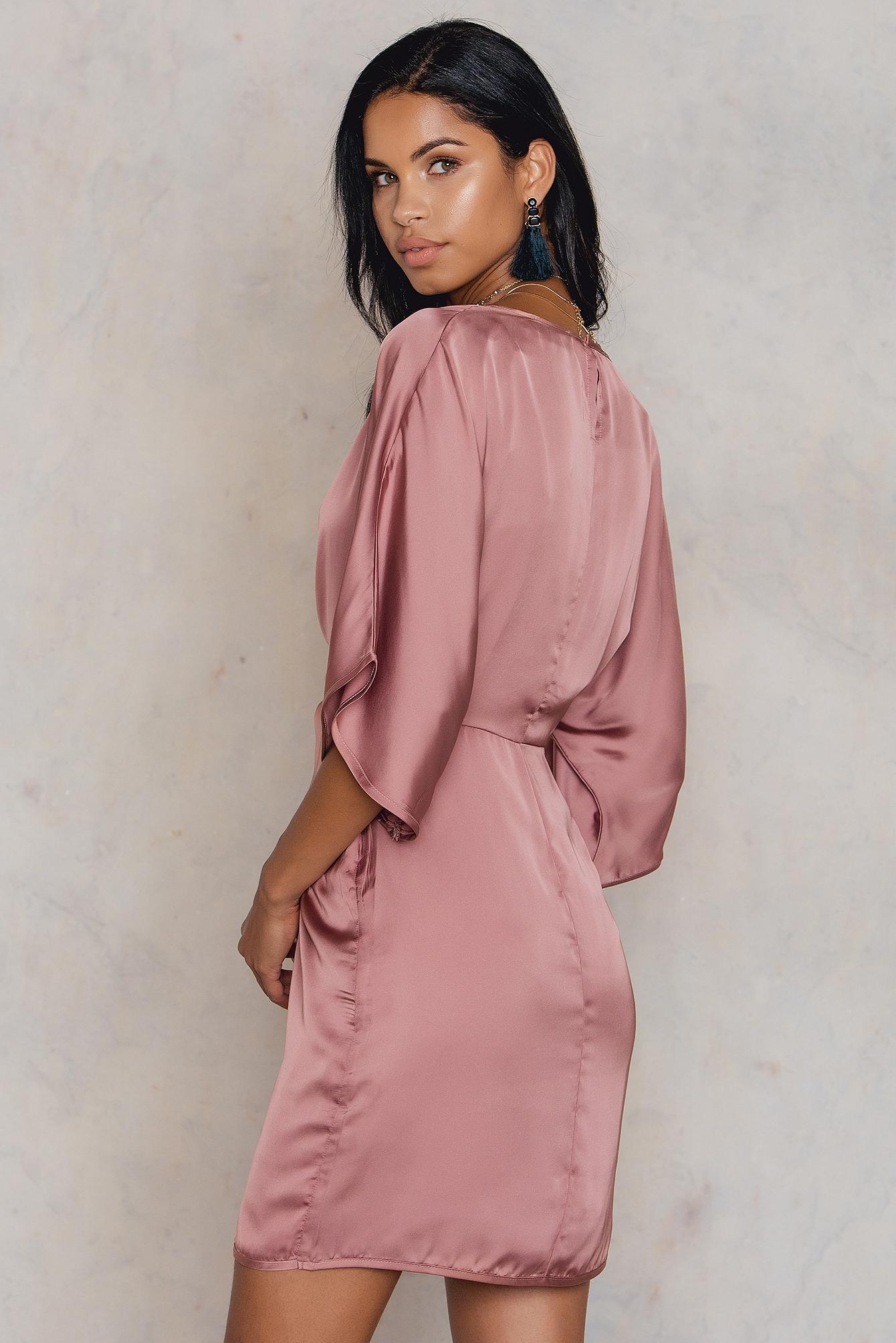 Kimono Sleeve Knot Dress NA-KD.COM