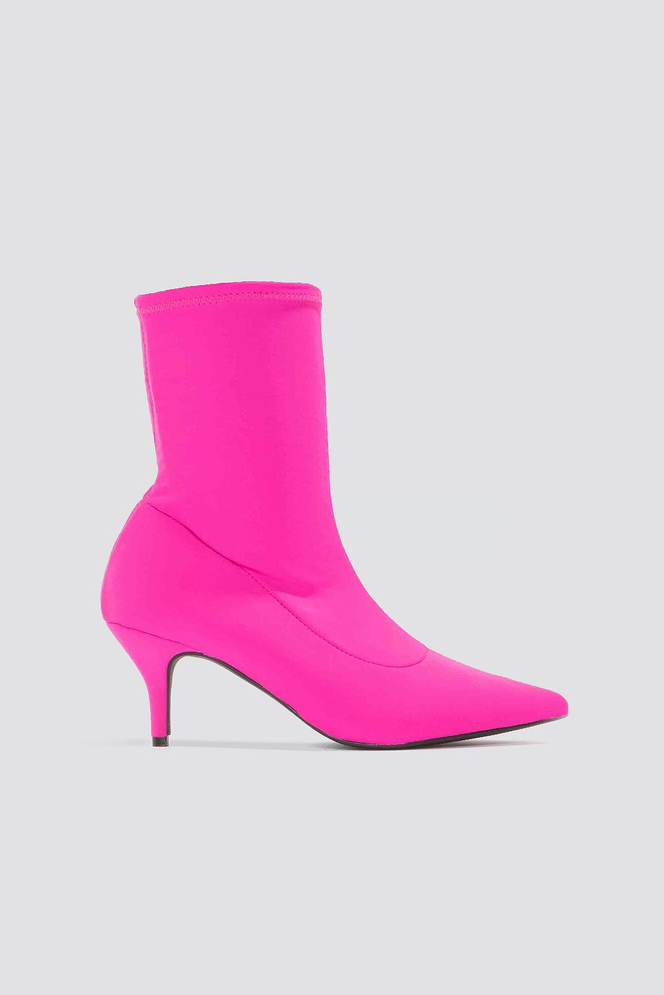 Kitten Heel Sock Boot NA-KD.COM
