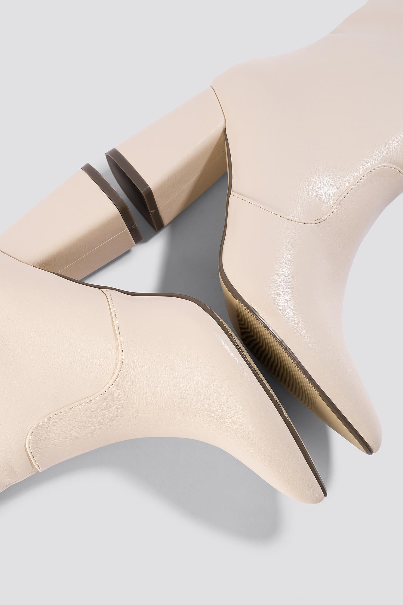 Knee High Block Heel Boots NA-KD.COM