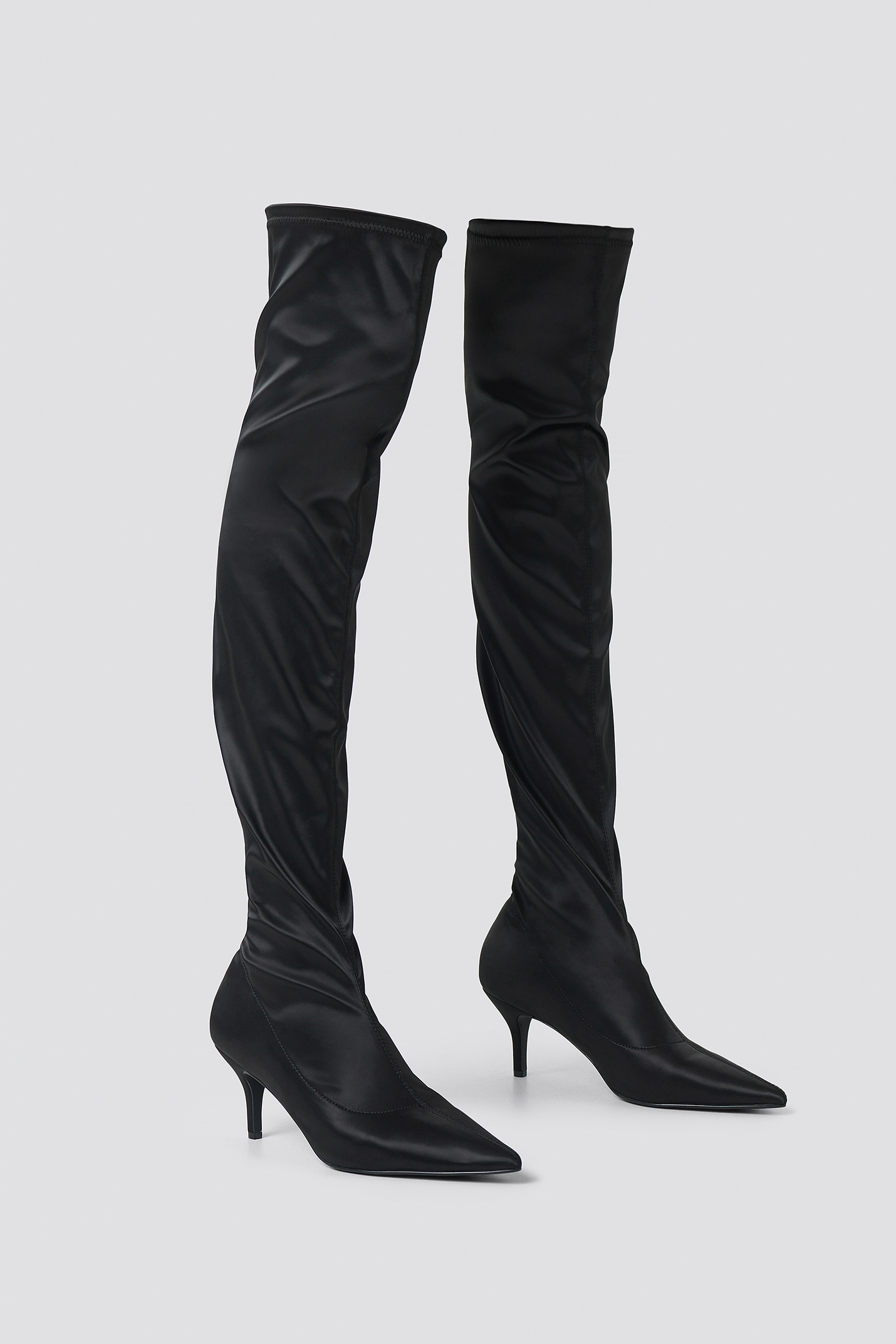 Knee High Satin Sock Boot NA-KD.COM