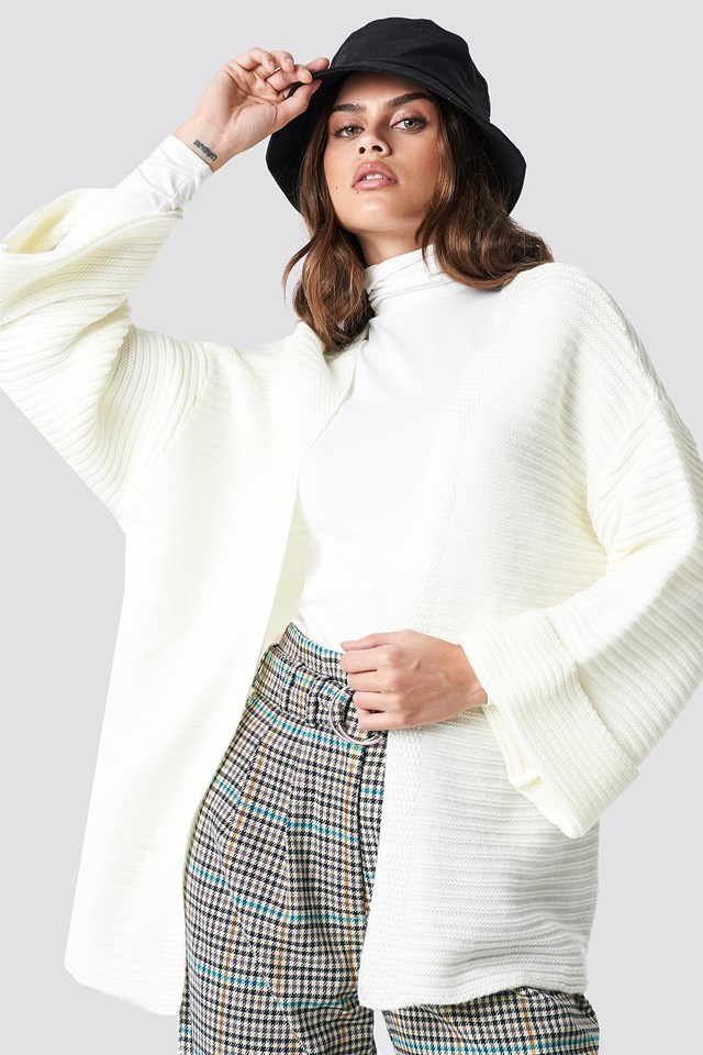 Knitted Cardigan White