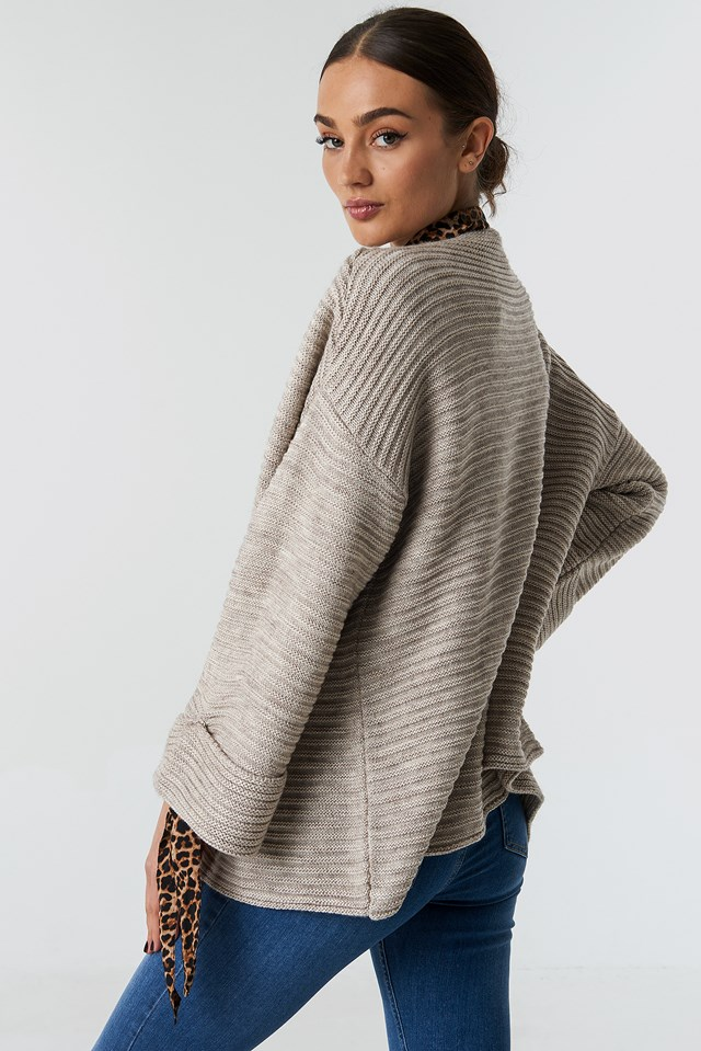 Knitted Cardigan Beige