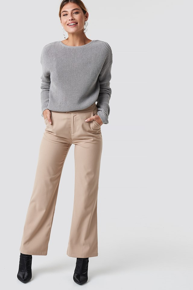 Knitted Deep V-neck Sweater NA-KD.COM
