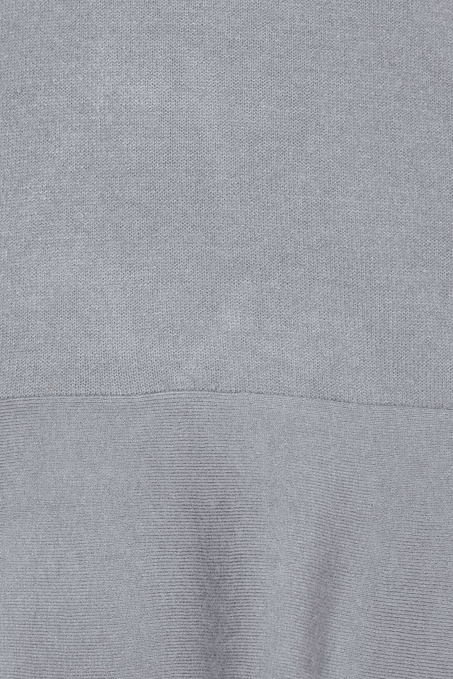 Knitted Flounce Dress Dusty Blue