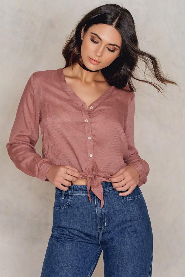 Knot Detail Shirt Pink