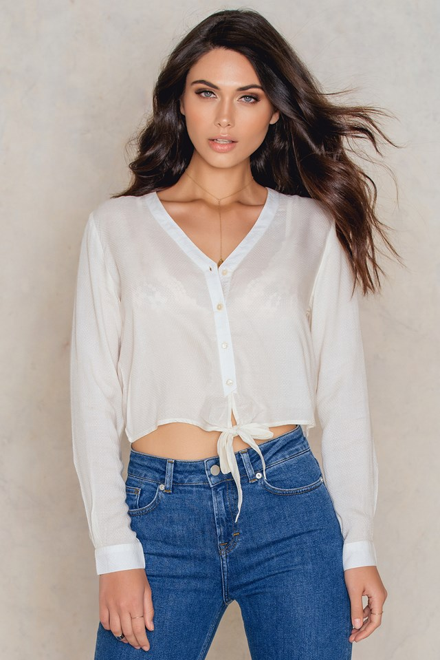 Knot Detail Shirt Offwhite