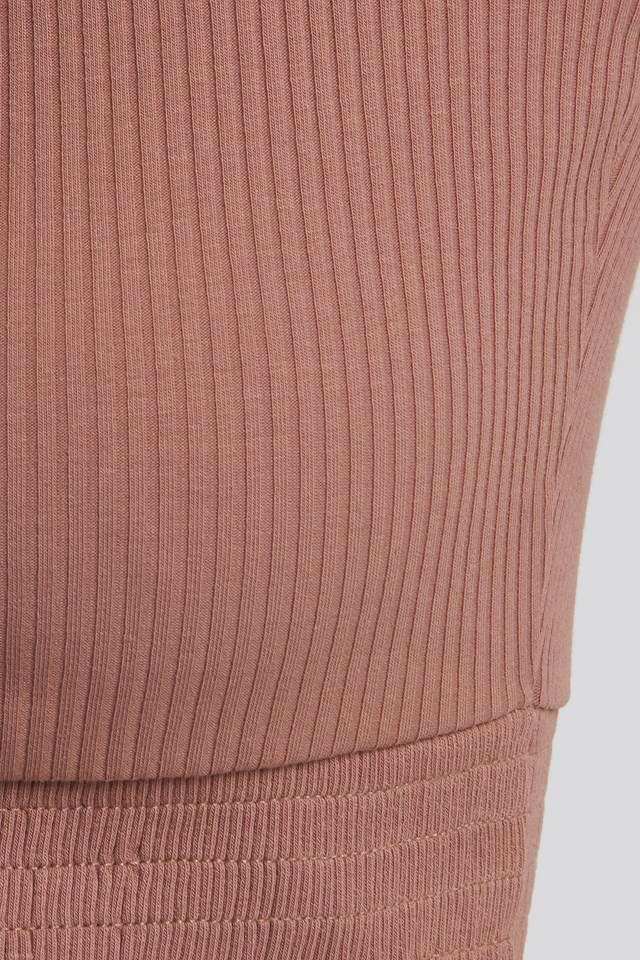 Knot Detail Smocked Top Dusty Dark Pink