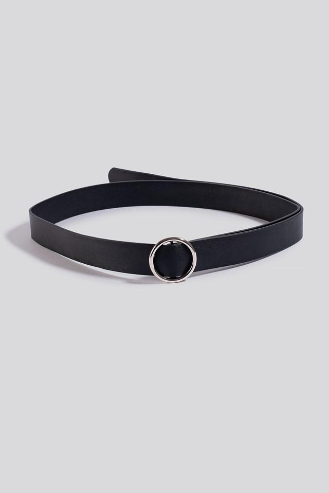 Knot Detail Waist Belt Black
