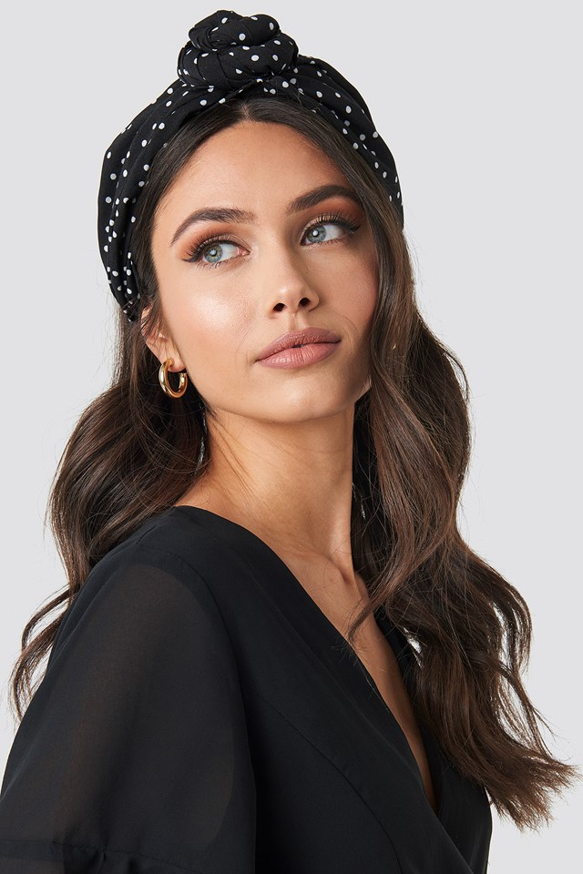 Knot Detailed Hairband Black