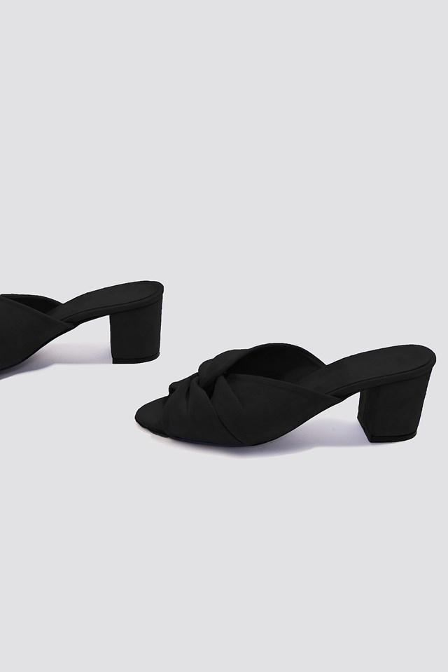 Knot Mule Heels Black