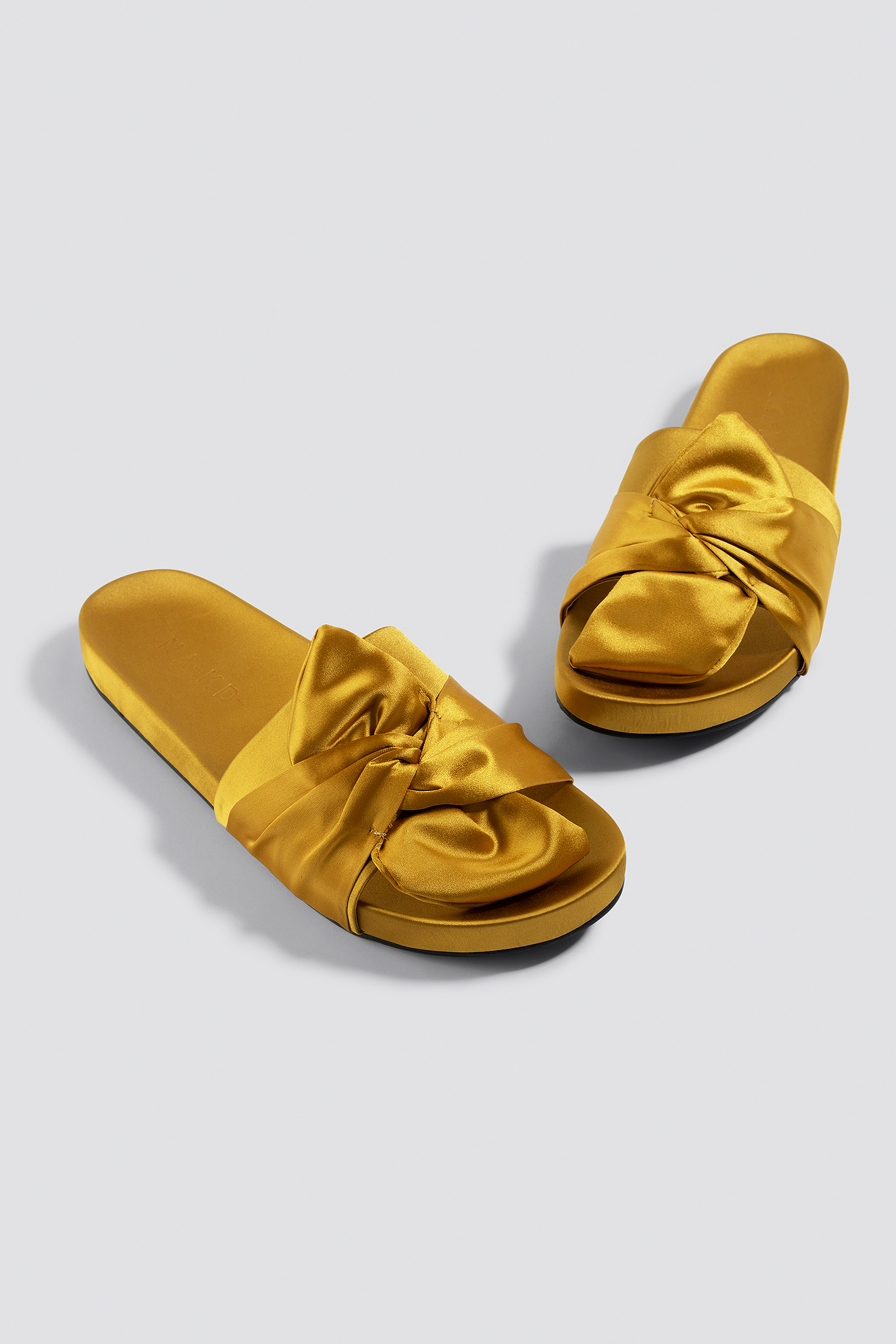 Knot Satin Slippers NA-KD.COM