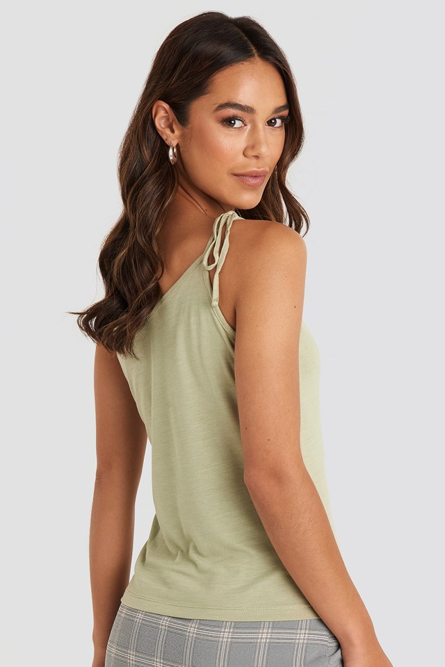 Knot Strap Singlet Light Khaki