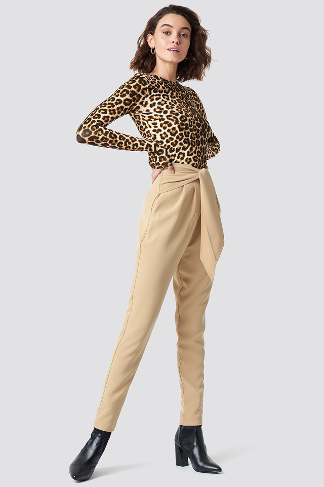 Knot Suiting Pants Beige