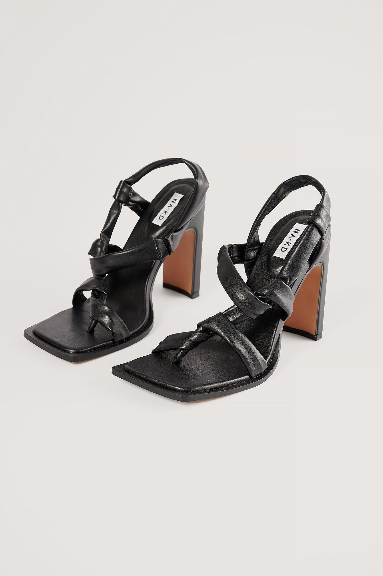 na-kd shoes -  Absatzschuhe Mit Knoten - Black