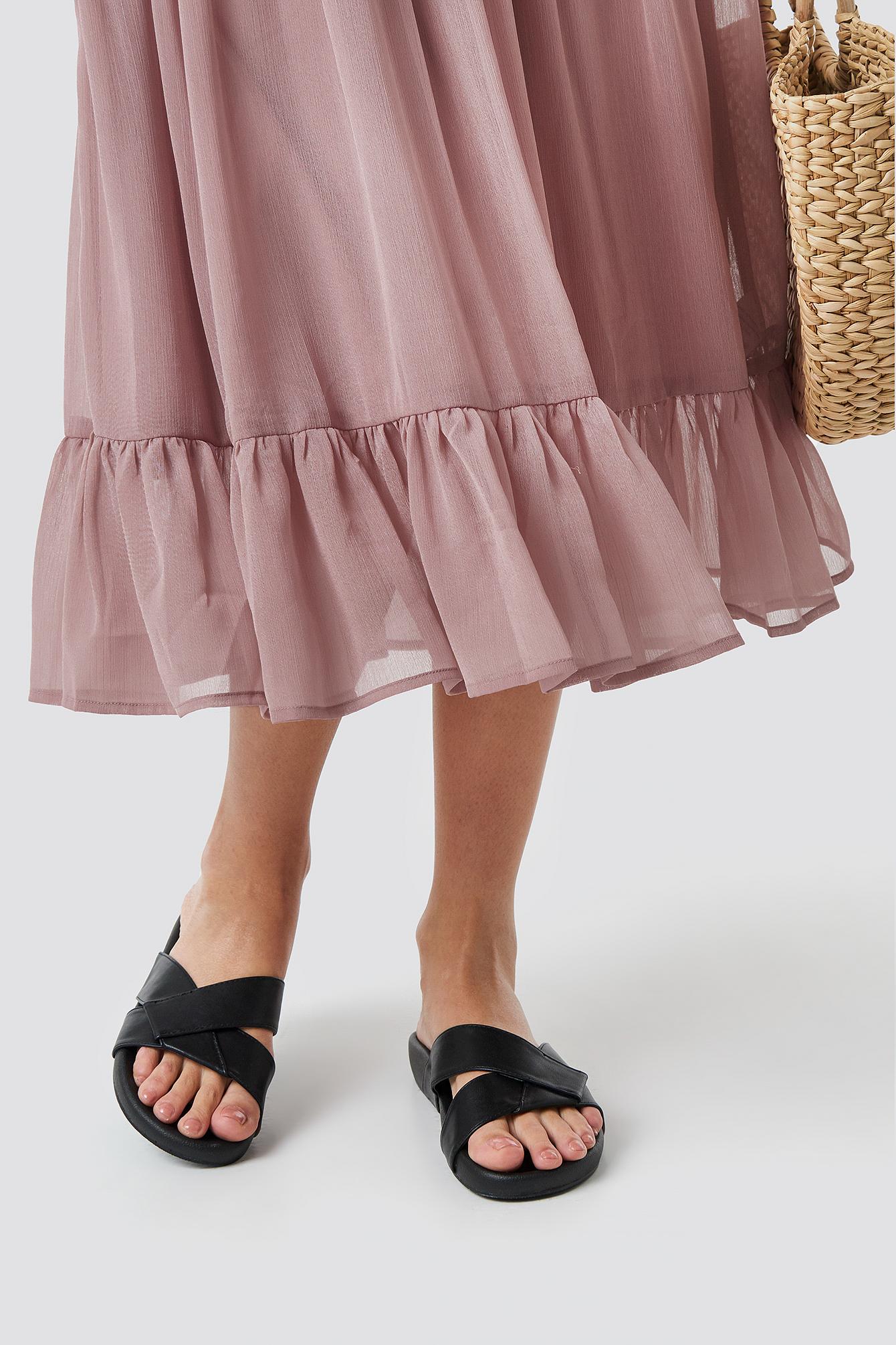 Knotted PU Slippers NA-KD.COM