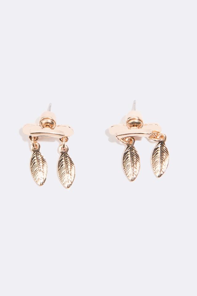 Hanging Leaves Earrings Gold