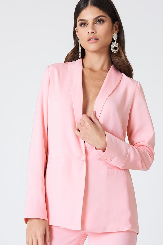 Oversized Blazer Light Pink