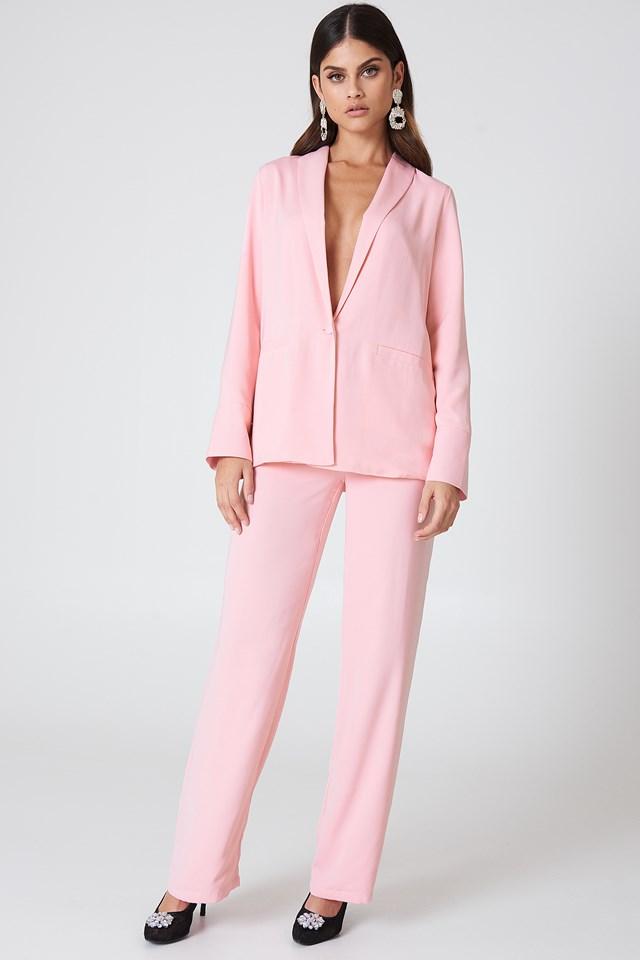 Oversized Blazer Light Pink