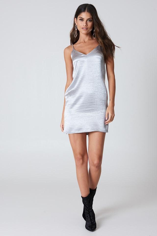 Shiny Slip Dress NA-KD.COM