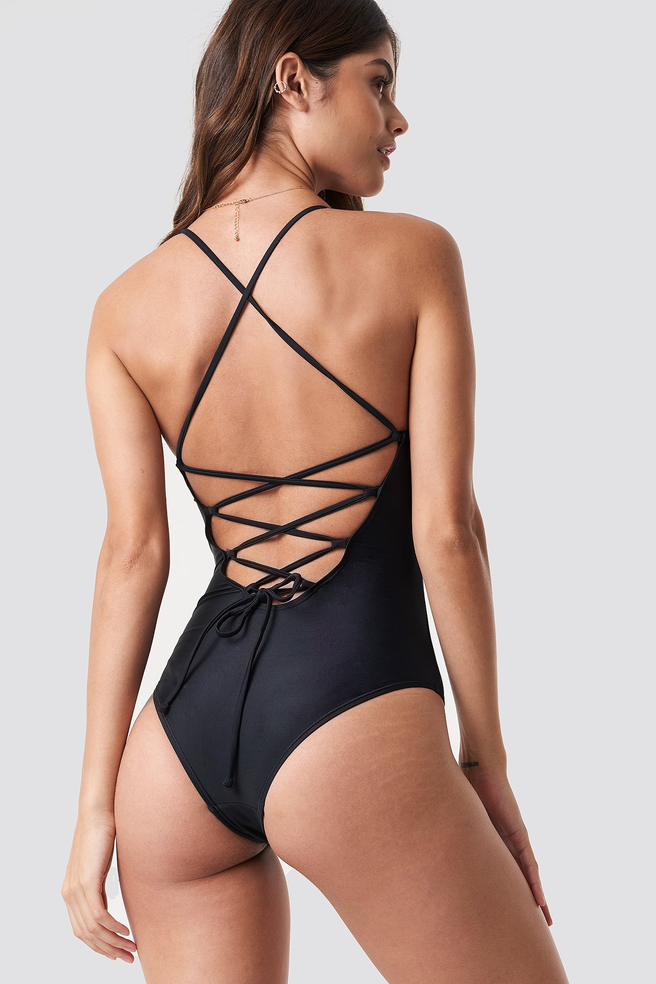 Lacing Back Swimsuit NA-KD.COM