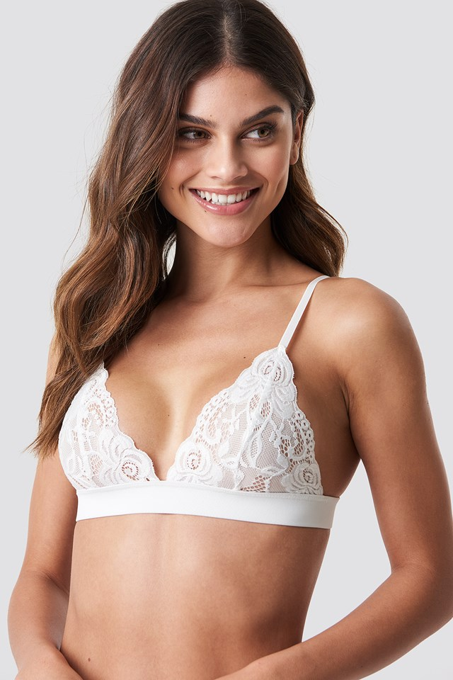 Lace Bra White