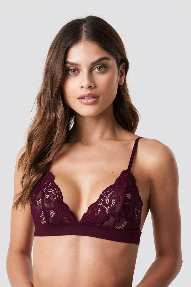 Lace Bra Deep Plum